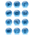 Abstract 3d icons set vector image vector image