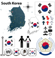 South Korea map vector image vector image