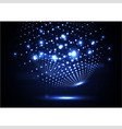technological abstract illuminated global light vector image