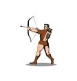 Archer Shooting Arrow vector image