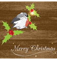 Christmass card with bird vector image