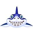 Shark head cartoon vector image