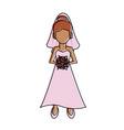 beautiful bride avatar vector image