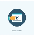 Flat video hosting Online vector image