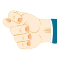Hand showing fig vector image