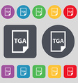 Image File type Format TGA icon sign A set of 12 vector image