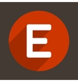 Letter E Logo Flat Icon Style vector image