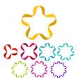 Ribbon shapes set vector image