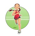 Sport Running girl vector image