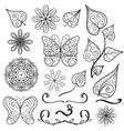 Summer hand drawn elements set vector image