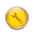 yellow repair button vector image