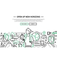 Open Up New Horizons - line design website banner vector image
