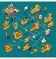 Factory Workers Isometric Composition vector image