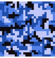 Pixel camo seamless pattern Fashion blue trendy vector image