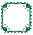 frame with stylized flowers vector image vector image