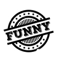 Funny rubber stamp vector image