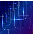 blue Abstract background of digital technologies vector image