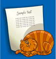 design with fat cat vector image