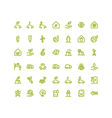Bio Ecology Green Energy Outline Bold vector image