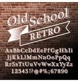 Old school Retro Alphabet vector image