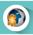business world money economy vector image
