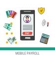concept mobile online payroll operation vector image