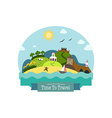Landscape with Beach Hills Church Mill Fortress vector image