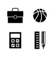 school subjects simple related icons vector image