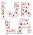 sheet alphabet Letter I J K L M vector image