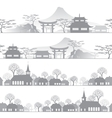 skyline town vector image
