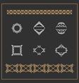 Set of Art Decorative Geometric Logos and Borders vector image