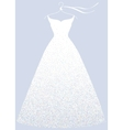 White bridal shower dress fashion vector image
