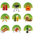 barbecue icon set vector image vector image