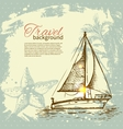 Travel hand drawn vintage tropical design vector image vector image