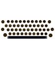 typewriter key layout vector image vector image