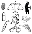 detective objects vector image