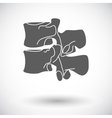 Anatomy spine icon vector image vector image