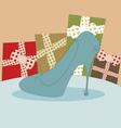 Shoe fashion background vector image vector image