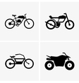Hybrid bikes and atv vector image