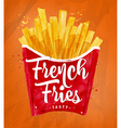 French fies color vector image