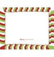 Christmas strip border vector image vector image