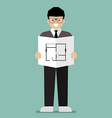 architect flat cartoon vector image