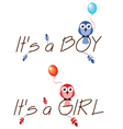 BOY GIRL vector image vector image