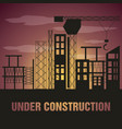 flat under construction concept vector image