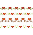 floral heart border vector image