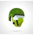 Green sports helmet icon vector image