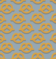 Pretzel seamless pattern Beer snack background vector image