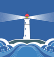 Sea lighthouse symbol vector image