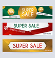 set of sale xmas banners design discounts and vector image