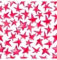 Shining pink stars seamless pattern background vector image